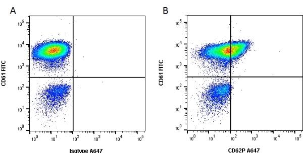 Anti Human CD62P Antibody, clone Psel.KO.2.12 gallery image 1