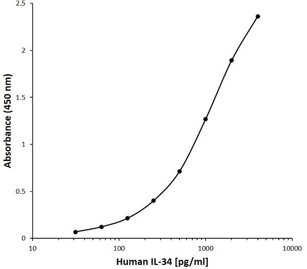 Anti Human INTERLEUKIN-34 Antibody, clone D02-3A7 gallery image 1